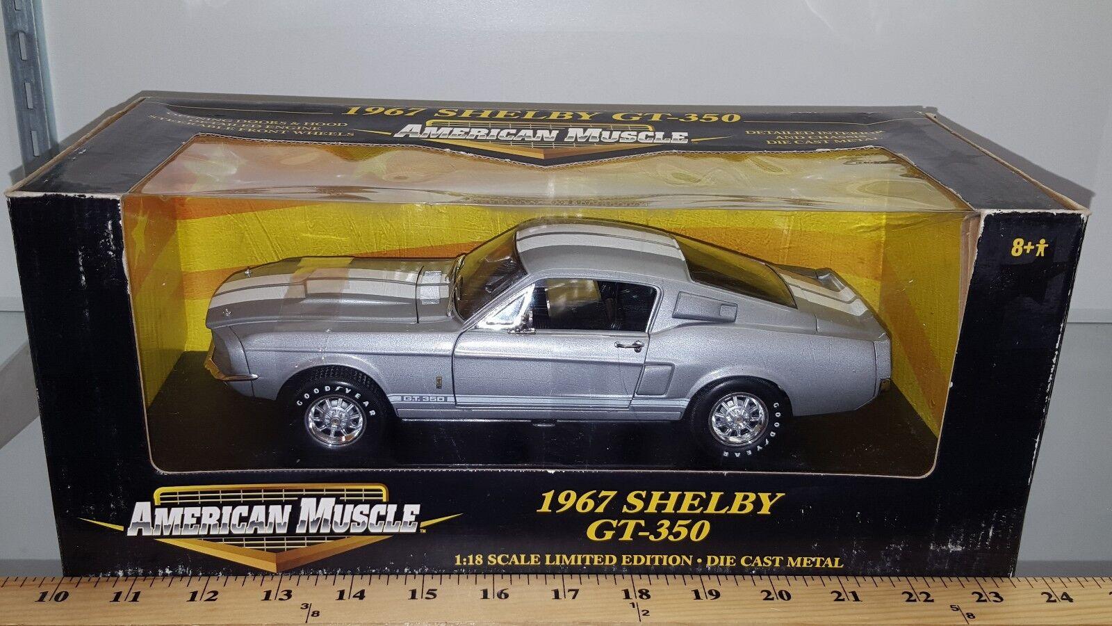 1 18 ERTL AMERICAN MUSCLE 1967 FORD SHELBY GT-350 METALLIC grigio yd 2