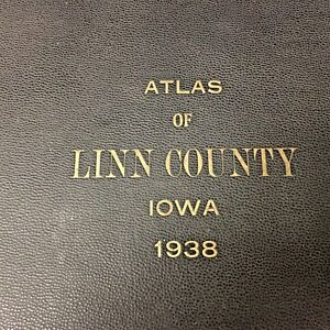 1938 Plat Book Atlas Linn County Iowa Map Directory Original Ebay