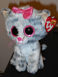 Ty Beanie Boos ~ KIKI the Grey Striped Tabby Cat (6 Inch) NEW MWMT ... 38a51cf47491