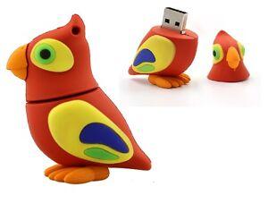 Cle-USB-3D-design-perroquet-oiseau-16-Go-Idee-cadeau-NEUVE