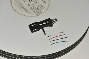 Headshell-fuer-SME-Technics-SL-Brinkmann-inkl-4x-Kabel-Design-schwarz-NEU
