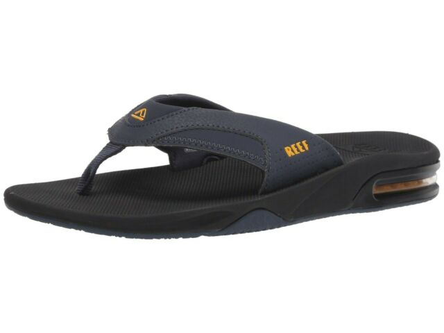 c929bbe8c Men Reef Fanning Flip Flop Sandal RF2026 Navy Yellow 100% Authentic Brand  New