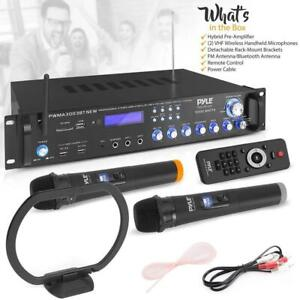 Karaoke System with wireless Microphones PYLE PWMA3003BT.NEW Bluetooth Hybrid Amplifier Receiver Canada Preview