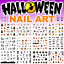 Halloween-Nails-Water-Decals-Nail-Stickers-Pumpkins-Bats-Haunted-Cats-Spiders miniatuur 1
