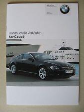 Verkäufer Handbuch BMW 6er Coupe E63 630i 645 Ci M6 Modelle 2005