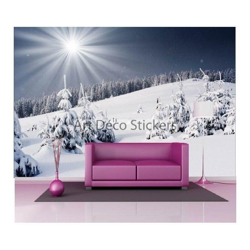 Stickers muraux muraux muraux géant déco : Neige en montagne 1525 | Matériaux Soigneusement Sélectionnés  6ea130