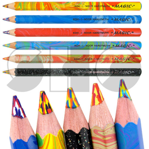 MAGIC JUMBO Pencil by Koh i noor multicoloured led 6 colours to choose from