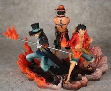 One Piece D.ACE Sabot Luffy Anime Manga Figuren Set H:14-17cm Neu