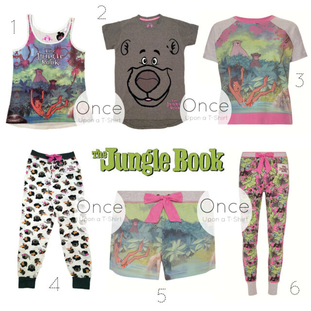 PRIMARK Ladies DISNEY THE JUNGLE BOOK Characters Pyjamas PJ Pieces Collection