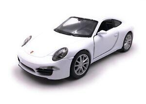 Modellino-Auto-Porsche-911-CARRERA-S-Bianco-Auto-Scala-1-3-4-39-Licenza