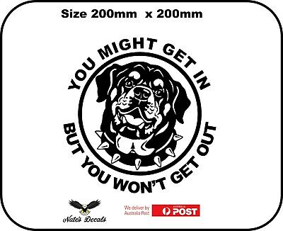 But... You Might Get In Quality Neapolitan Mastiff Guard Dog Decal Sticker