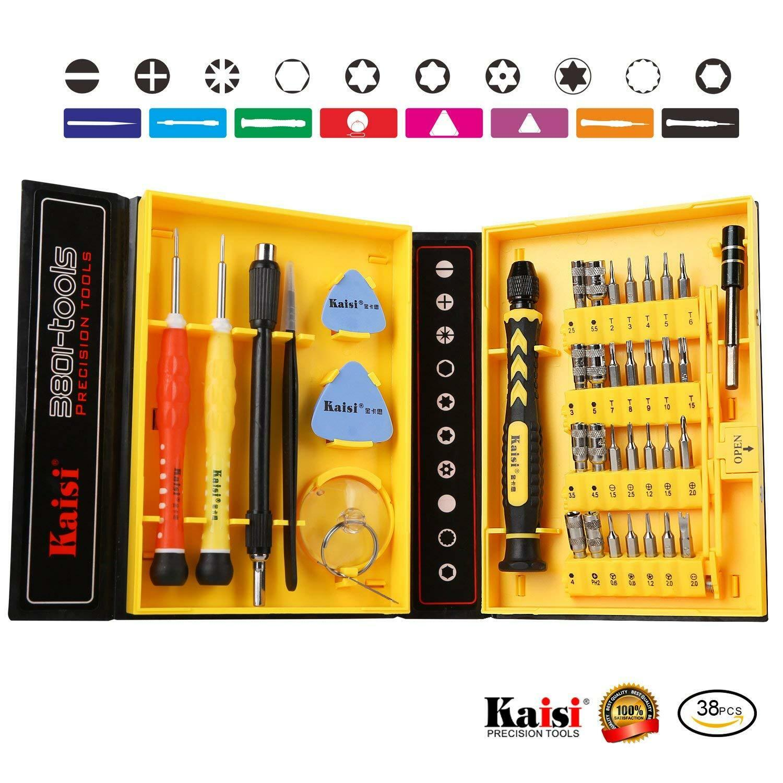 38 piece magnetic screwdriver set precision toolkit