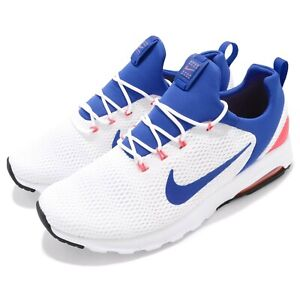 Details about Nike Air Max Motion Racer White Ultramarine Solar Red Men Running 916771 100