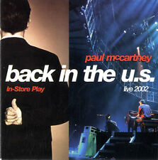PAUL MCCARTNEY Back In The U.S. Live 2002 - In-Store Play - RARE