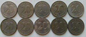 Malaysia-1971-20-sen-coin-10-pcs