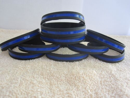 10 Thin Blue Line Wristbands Thin Blue Line Wristbands Mint 10 pcs