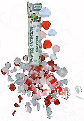 CANON à Confettis Pétales de ROSES Blanc Rouge Rose Décoration Mariage Baptême