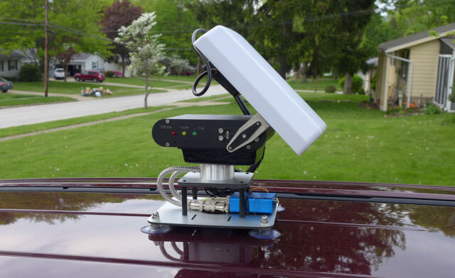 FPV Automatic Antenna Tracker Car Roof Mount Base Long Range MFD AAT GoPro Hero3