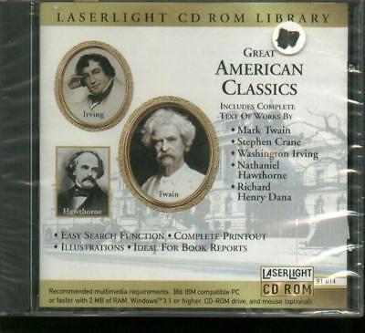 Great American Classics Irving, Twain, Hawthorne Nuovo- Facile Da Usare
