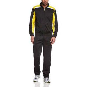 Completo Tuta Uomo LOTTO N3546 SUIT ASSIST Nero/Giallo (Giacca + Pantaloni)