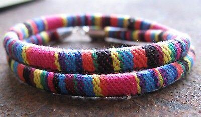 Aus Dem Ausland Importiert Ethno Armband Rosa Gelb Neu Bunt Herren Damen Surfer Wickel Bracelet Südamerika Ruf Zuerst