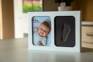 Handabdruck-Fussabdruck-Baby-Formschaum-Bilderrahmen-KEIN-Gips-Little-Memories