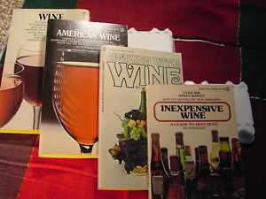 4 Wine  Book s Vintage 1971 Thru  1975