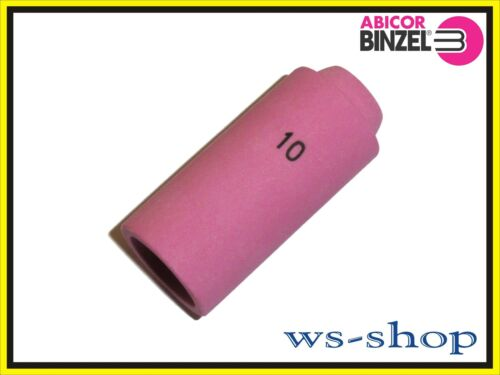 10 von Abicor BINZEL SR17 47mm 18 WIG TIG Gasdüse Brenner aus Keramik Gr 26