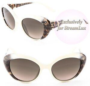 52c48a67ec43a CHRISTIAN DIOR Cat Eye Women Sunglasses PANTHER 2 5O5 HA Ivory Brown ...