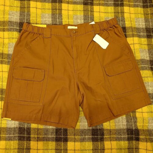Hiking Shorts Comfort Casual Savane Cargo Outdoors Stretch Tech Pocket Toffee