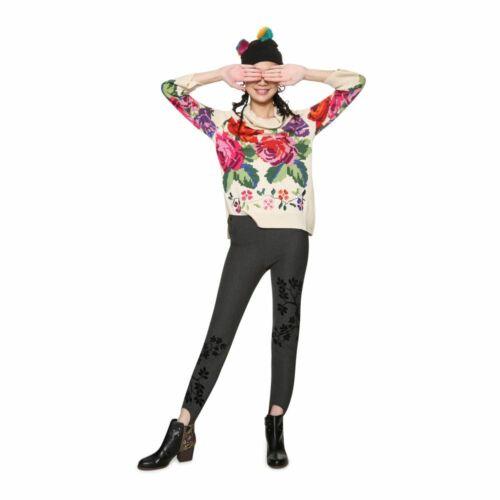 Desigual RosaPullover mit Blumenmuster und Rundkragenehem UVP 109,95€