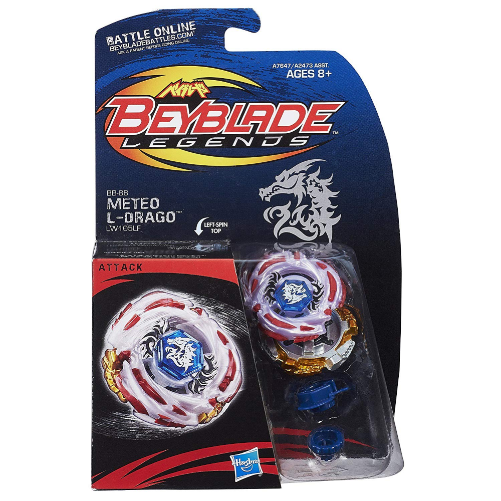 BB 88 Meteo Meteo Meteo L Drago LW105LF Top Includes Face Bolt Energy Ring Beyblade Legends 428b05