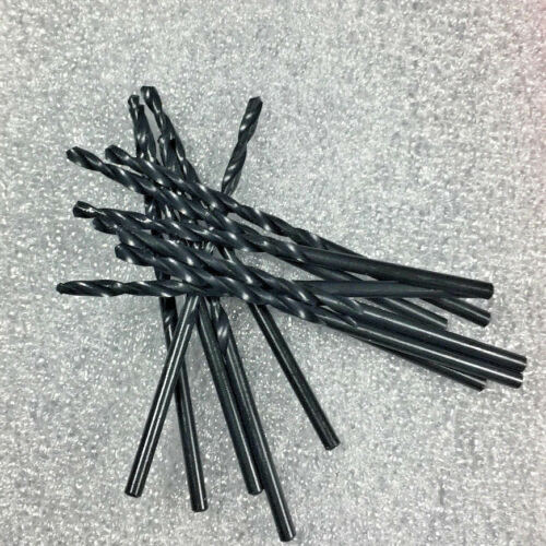 118 Deg Point  Metal Cutting Black Jobber Drill Bits 12 PCS 3//16 H.S.S