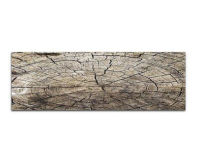 150x50cm - Wood Background Holz Stamm Panorama Wandbild Leinwand Keilrahmen
