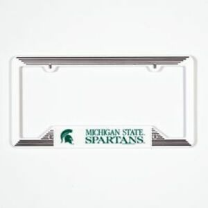 image is loading michigan state spartans plastic license plate frame - Michigan State License Plate Frame