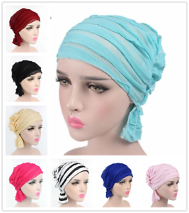 Muslim-Women-Ladies-Full-Cover-Hijab-Turban-Islamic-Pleated-Head-Wrap-Chemo-Cap