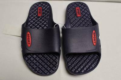 NEW Boys Flip Flops Sport Sandals Size 12-13 Medium Blue Kids Slides Shoes