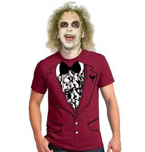 Beautiful Details About Funny Easy BEETLEJUICE Style Wedding Menu0027s Halloween Costume  Shirt Tuxedo