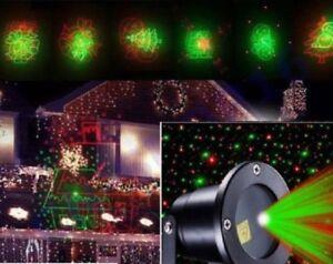 Proiettore led laser rgb luci natale decorazioni natalizie albero