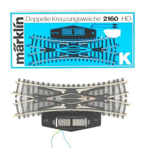 Hohlprofil OVP MÄRKLIN Spur H0 2160 K doppelte Kreuzungsweiche elektrisch