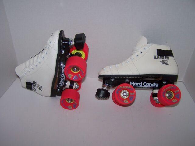 Roller Skates For Sale Ebay >> New Riedell 122 Custom Leather Roller Skates Mens Size 4 Ladies 5
