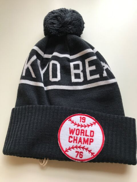 dab1ad69f8cfe Champion Reverse Weave X Beams Pom Beanie Navy for sale online