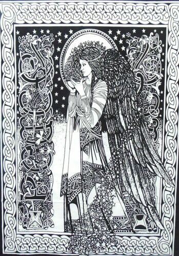 Wall Hanging Tapestry Blessing Angel Design Poster Small Cotton Fabric Wonderful