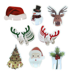eaddf6b073f9c 10x Hot Christmas Wine Glass Table Name Cards Top Cute Xmas Party ...