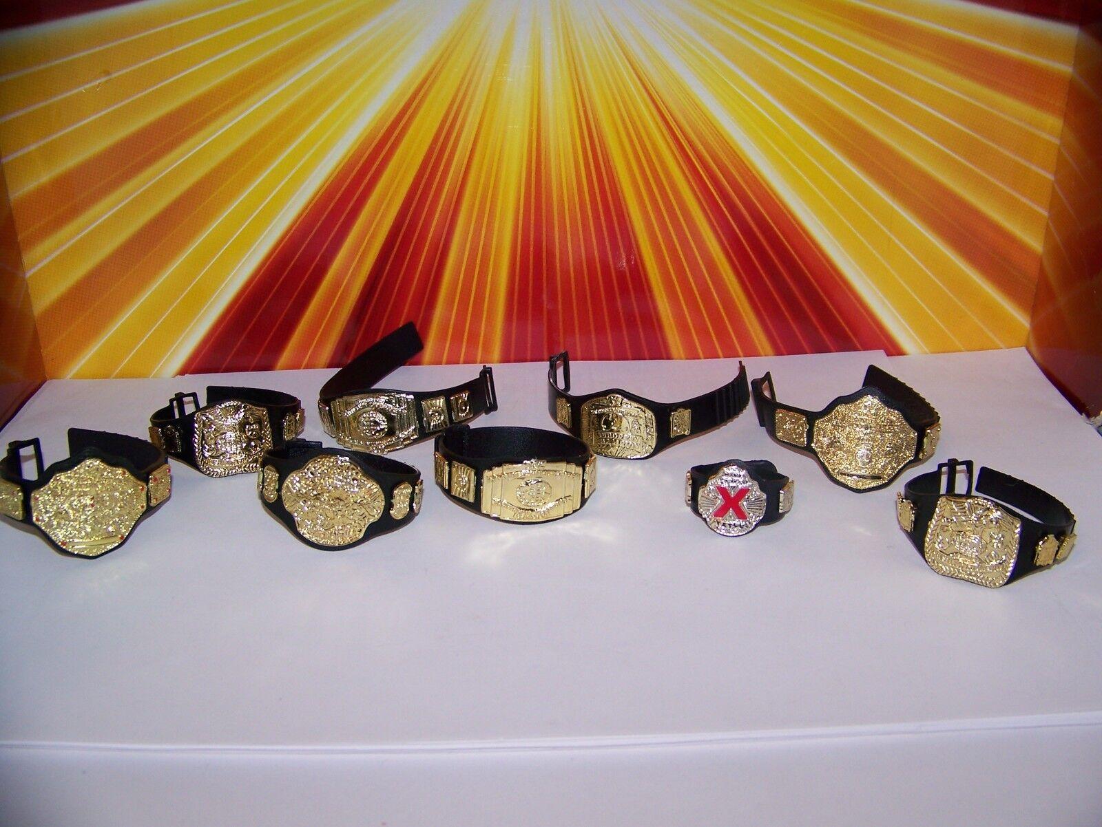 6  Scale Wrestling Belt Lot Lot Belt WWE WWF DC Multiverse Marvel Legends Custom Fodder 86e5c8