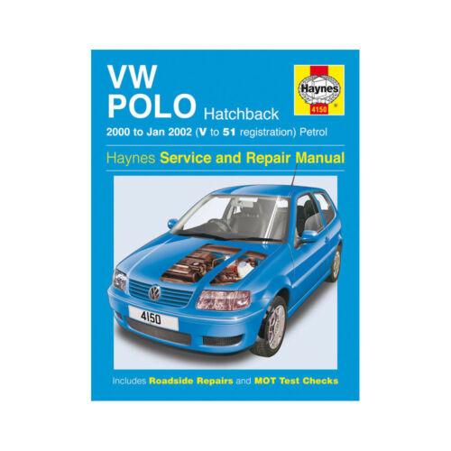 VW Polo Haynes Manual 2000-02 1.0 1.4 Petrol Hatchback Workshop Manual