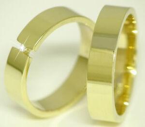 Ausgefallene Eheringe Trauringe 585 Gold 14 Kt Gelbgold Massiv