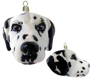 Slavic-Treasures-DALMATION-DOG-HEAD-Polish-Glass-Ornament