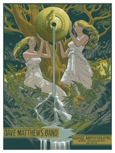 Dave Matthews Band Poster @ N2 the Gorge 8//30//14