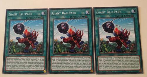 3 x Giant Ballpark SOFU-EN062-1st Edition NEW YuGiOh